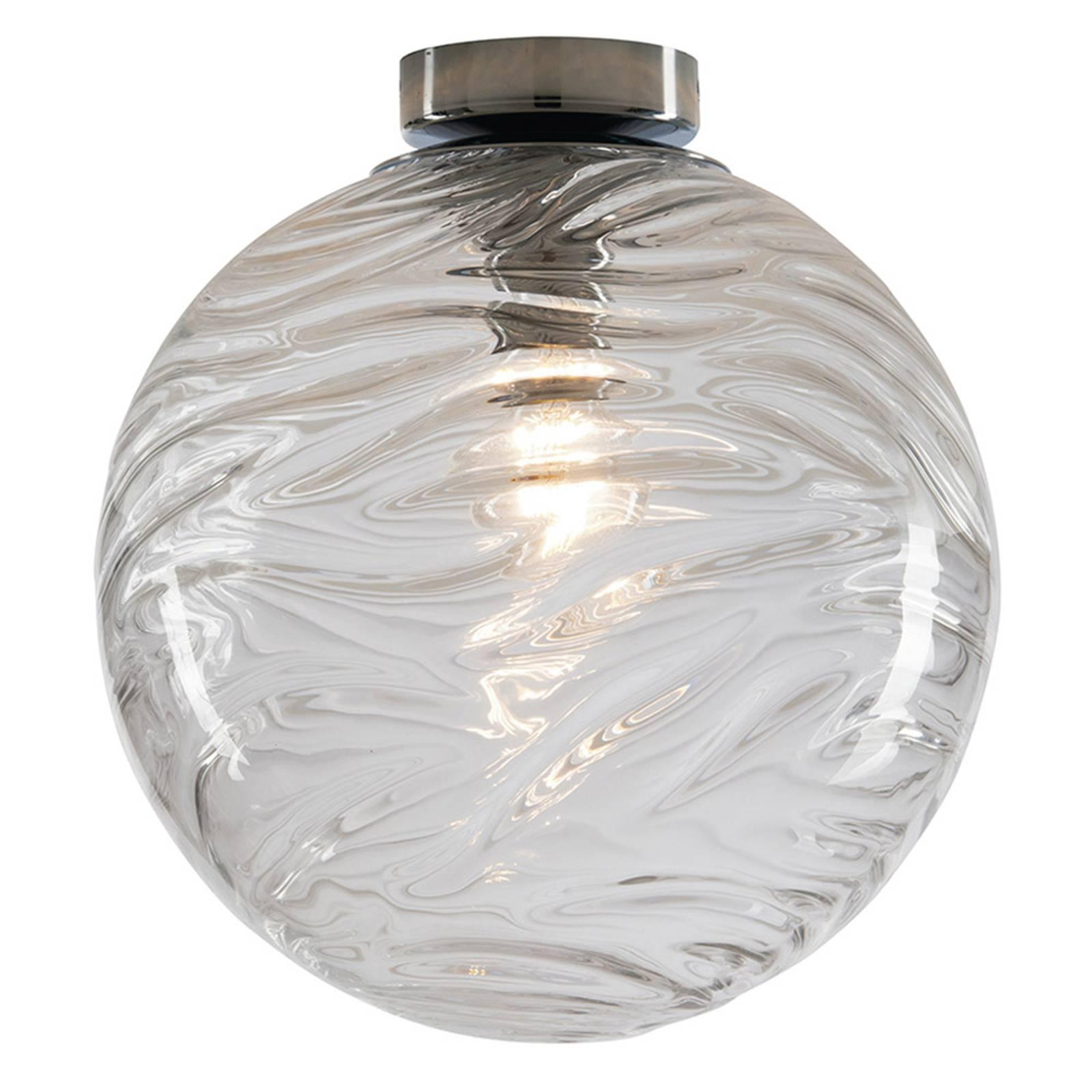 Deckenleuchte Nereide, Glas klar