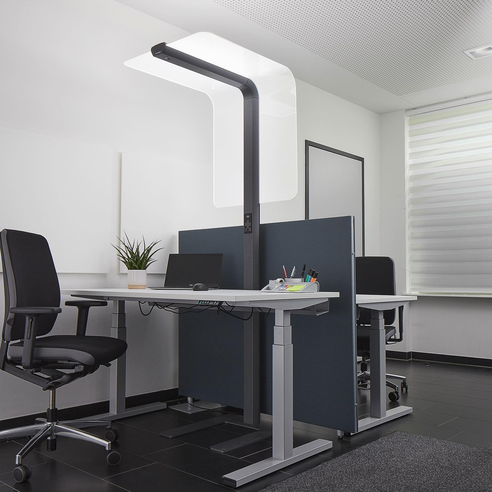 LED-Stehleuchte eva place 2D3E RAL DB703 anthrazit