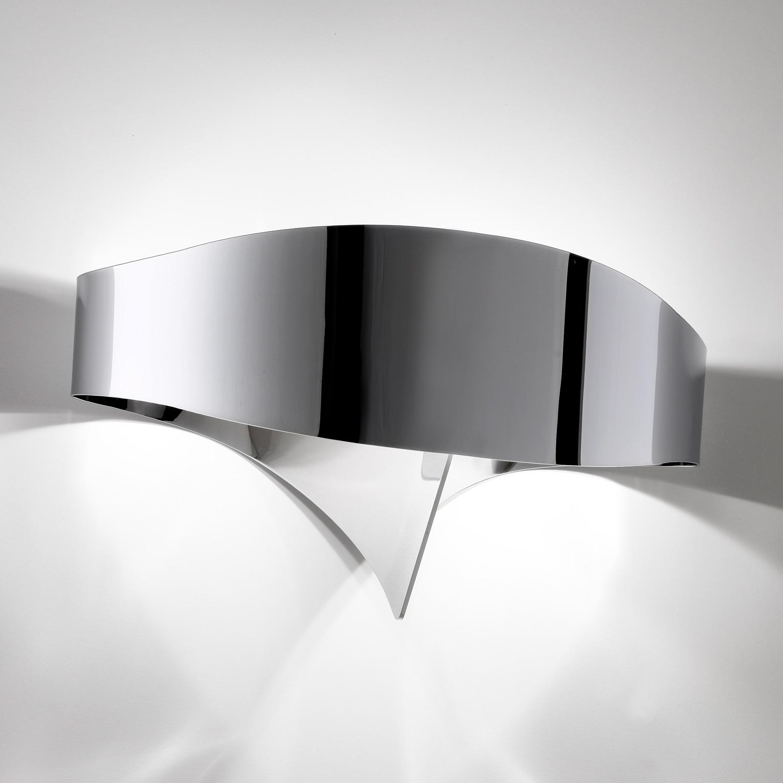 Applique LED Scudo aspect chromé