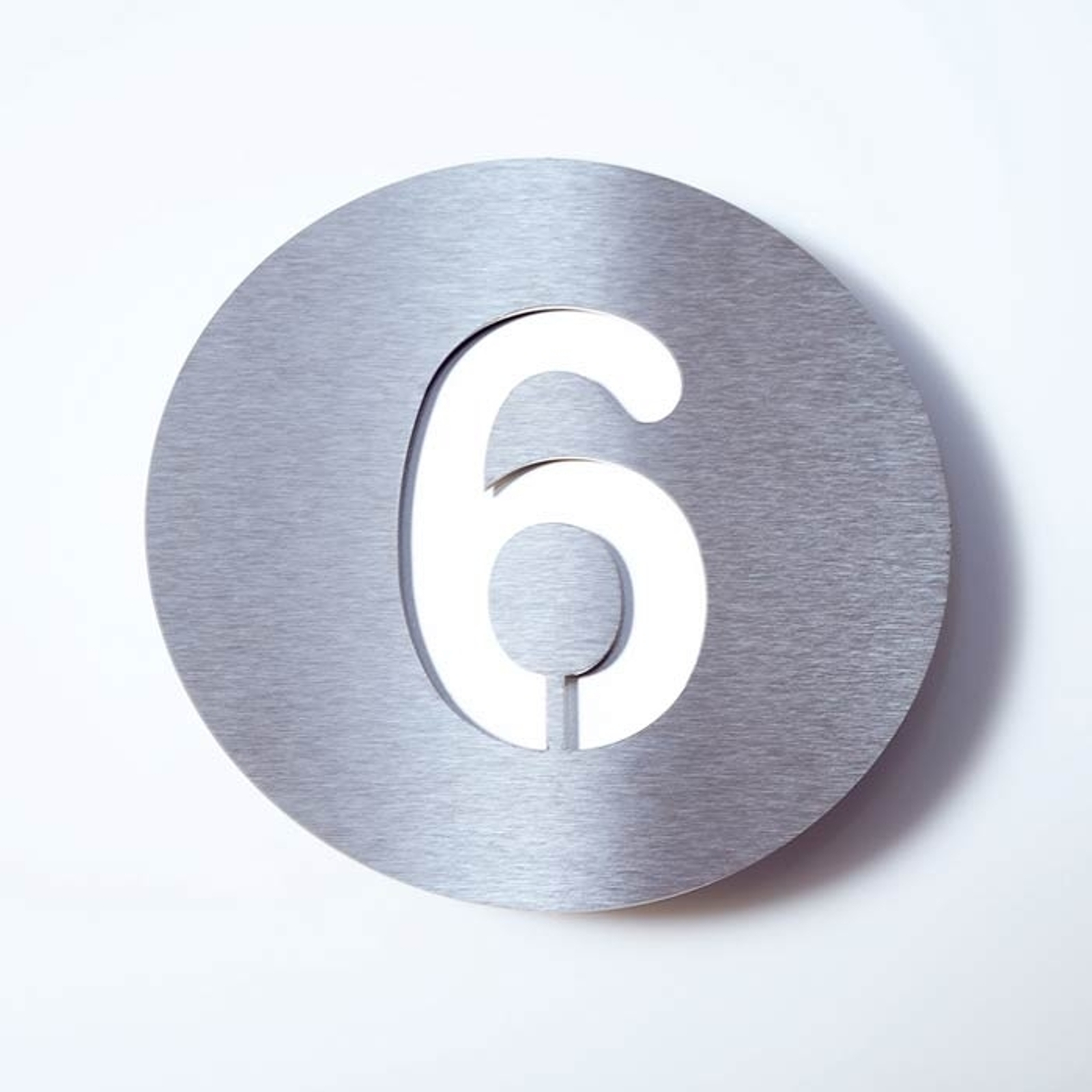 Stainless steel house number Round_1057084_1