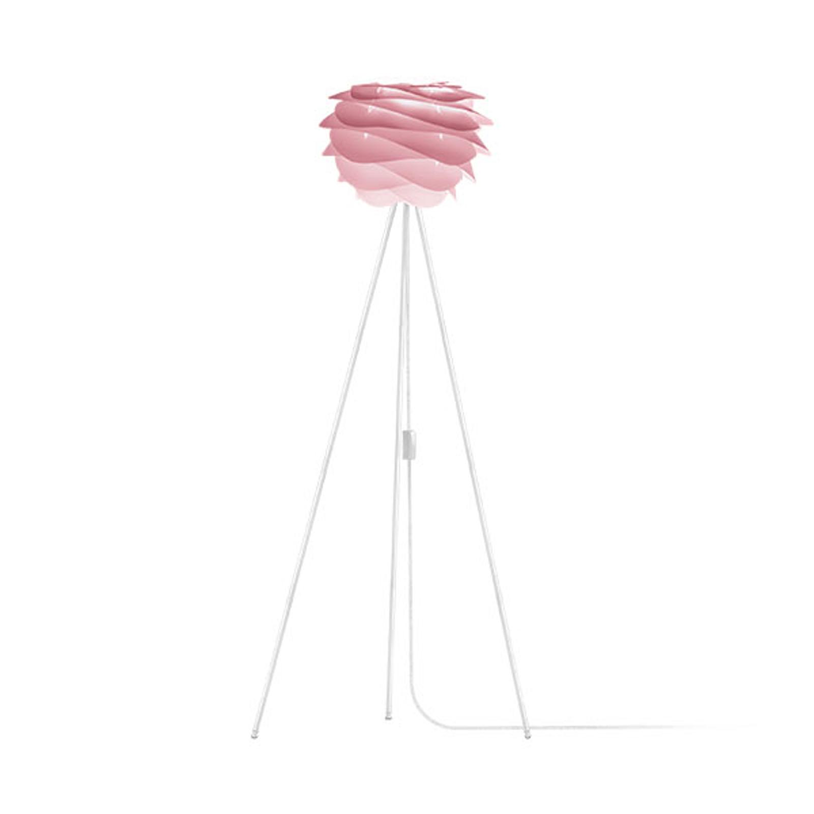 UMAGE Carmina Mini lampadaire rose/trépied blanc
