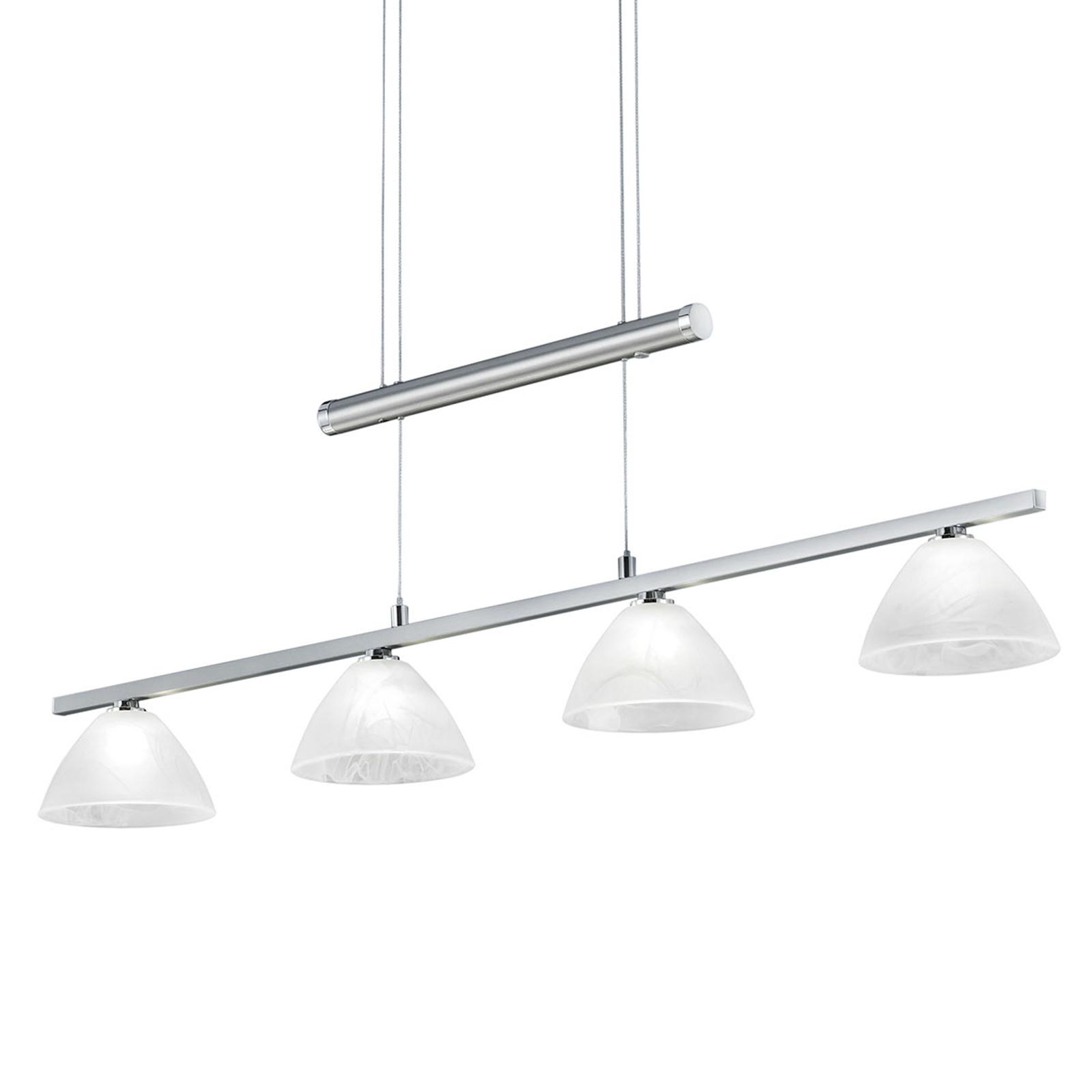 B-Leuchten Asti - verstelbare hanglamp nikkel