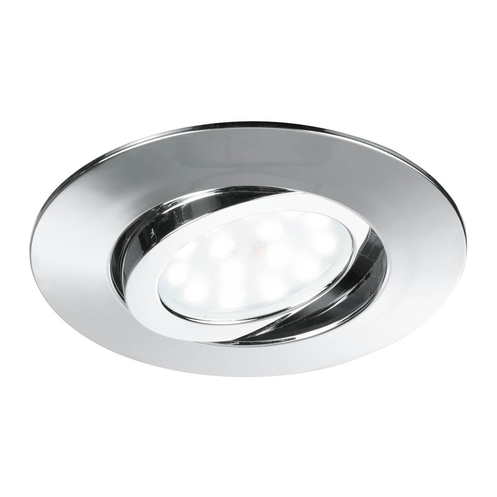 Zenit - spot LED da incasso a soffitto, cromo