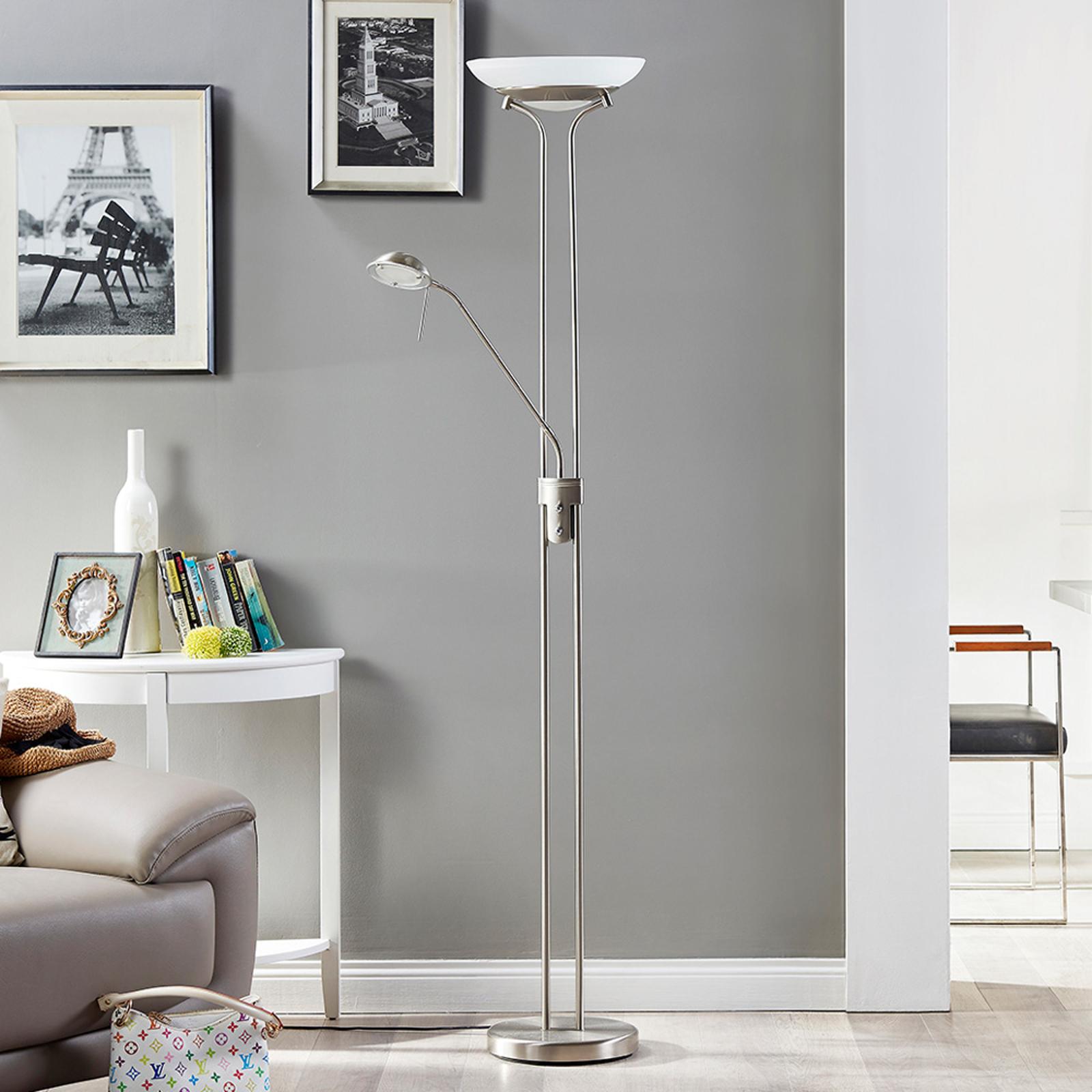 LED-tak-uplight Yveta med läslampa