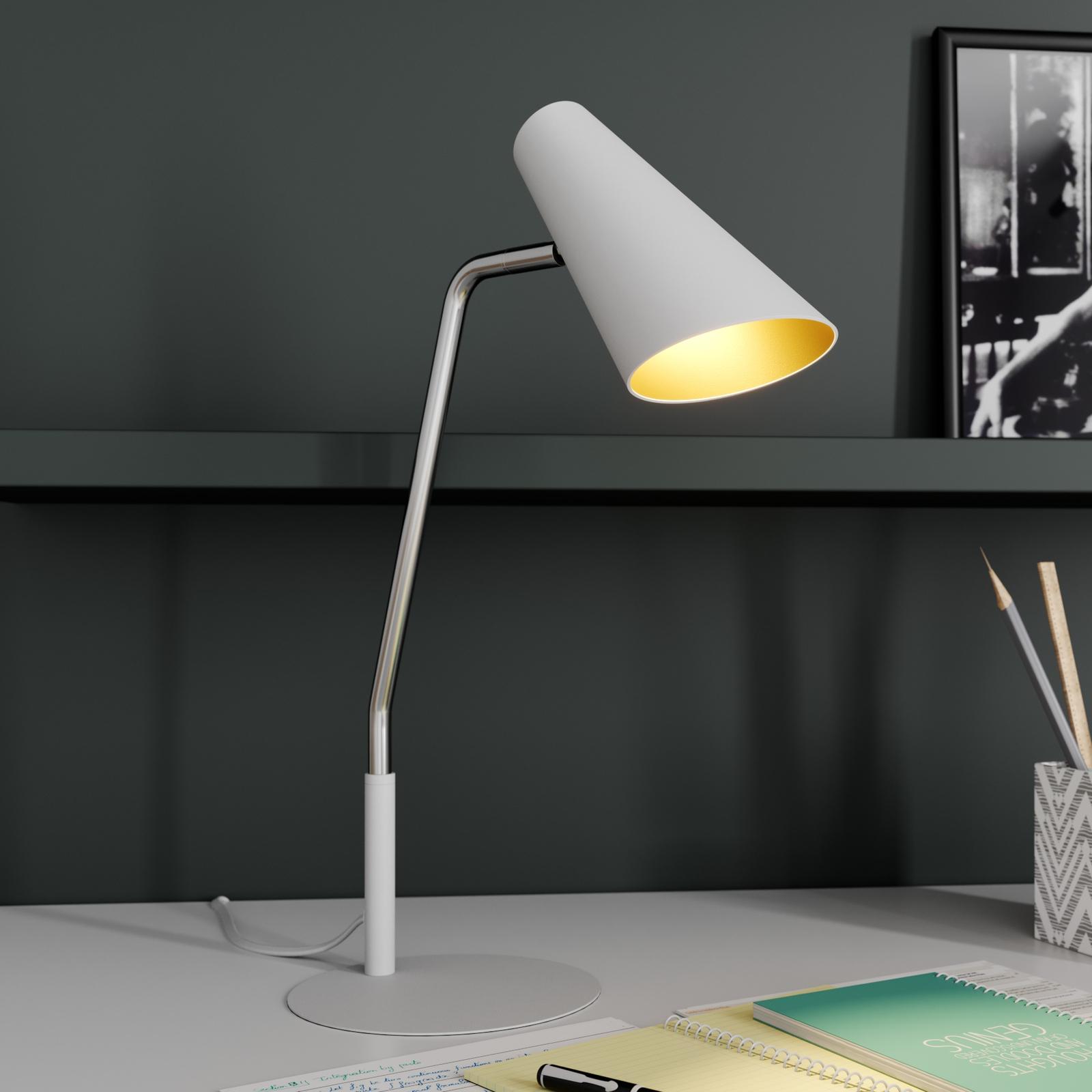 Lucande Wibke lámpara de mesa en blanco
