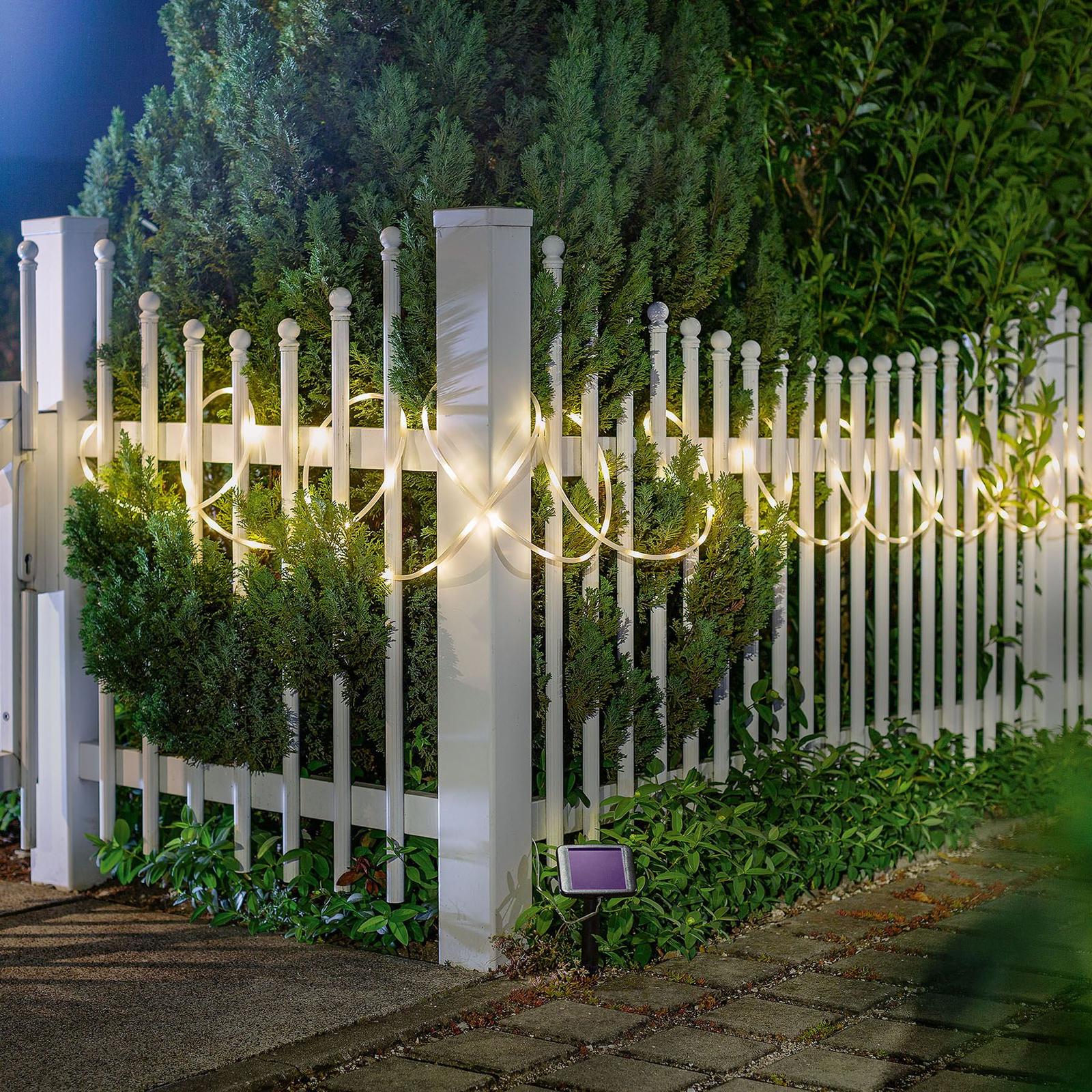 Premium LED-lysslange, solceller, med 100 LED'er