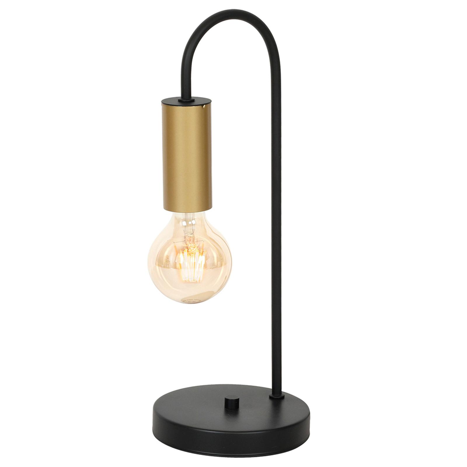 Lampe à poser Loppe, à 1 lampe, noire/dorée