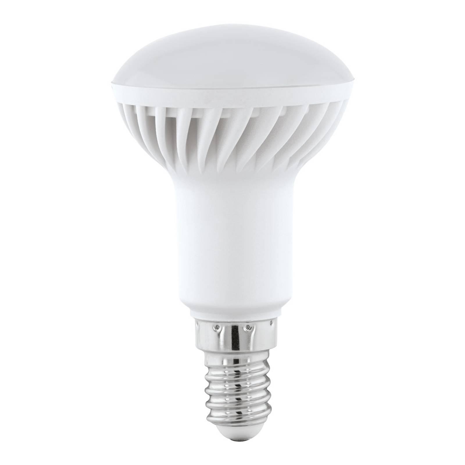 Riflettore LED E14 5W, bianco caldo, satinato