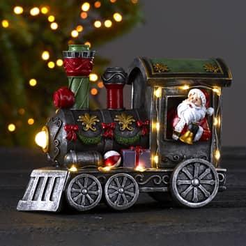 LED-dekolys Loke, julenissen på toget