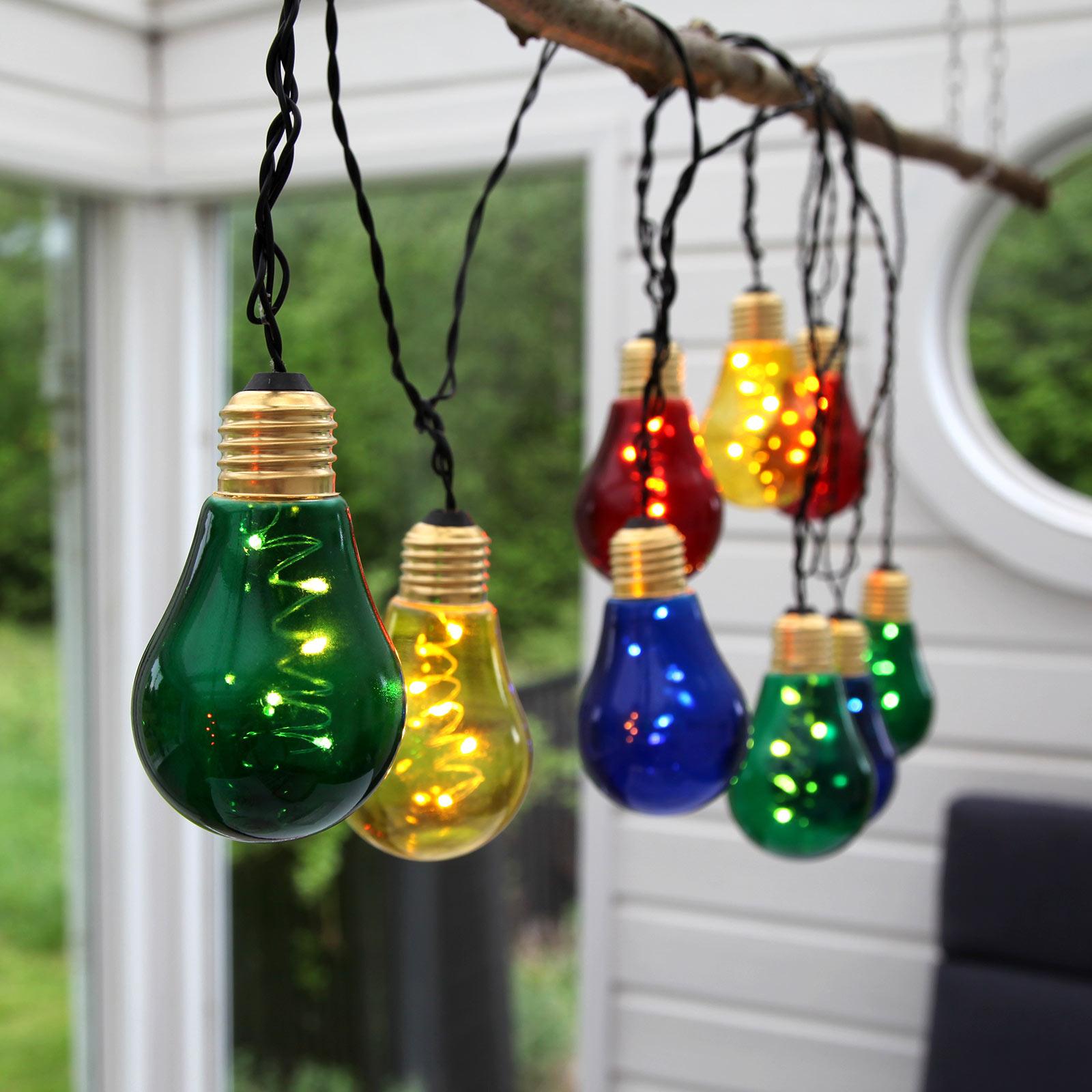 LED lichtketting Glow met 10 bonte lichtbronnen