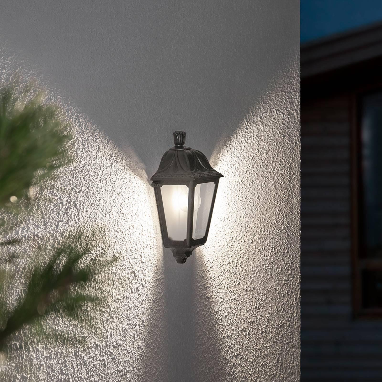 Zeewaterdichte LED buitenwandlamp Iesse zwart