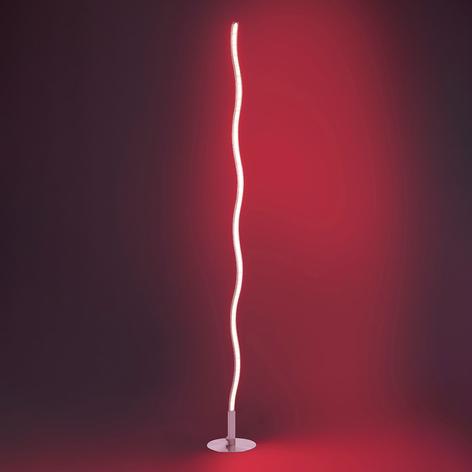 Lampada LED da terra Lucian con telecomando