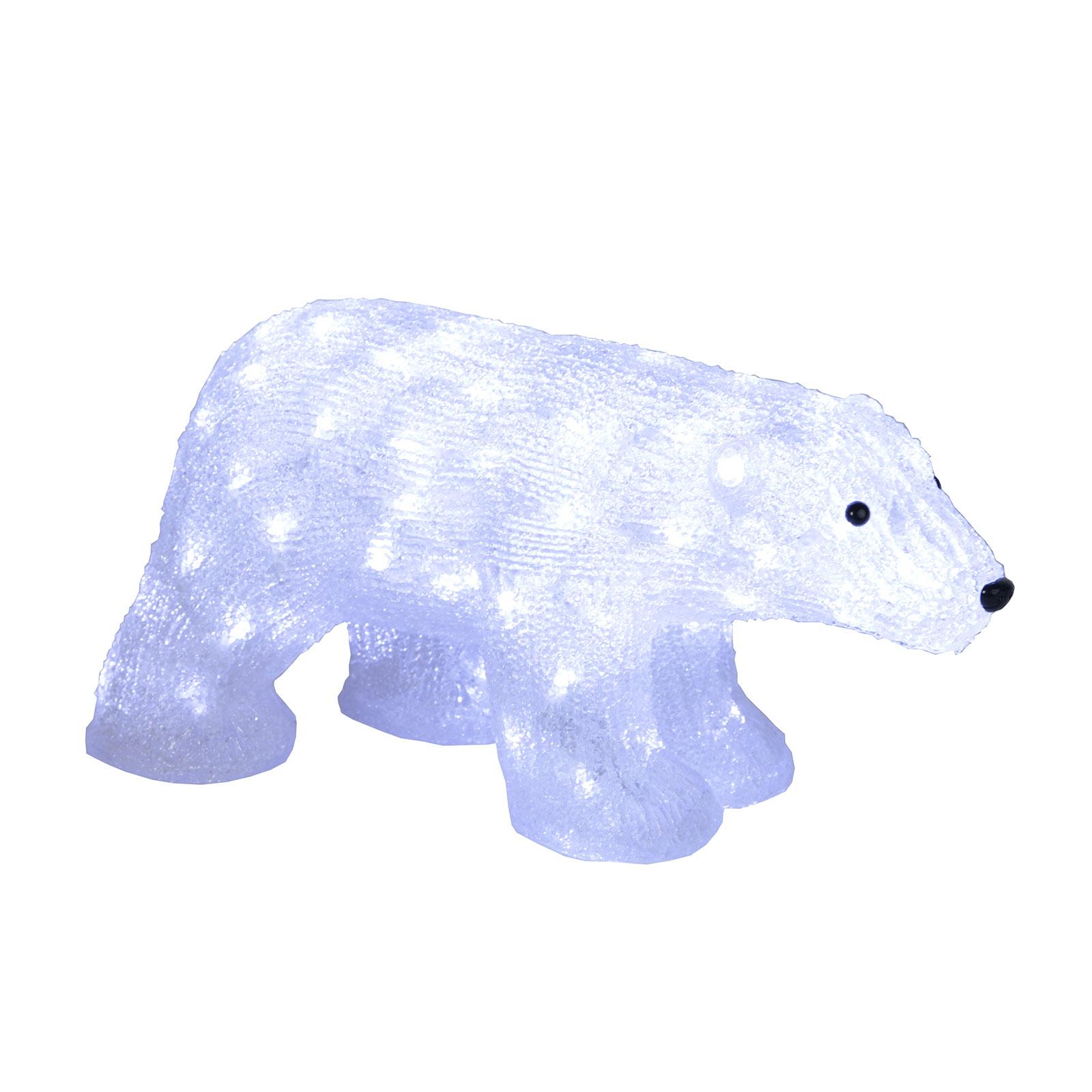LED-Figur Crystalo Eisbär für außen Länge 49,5 cm