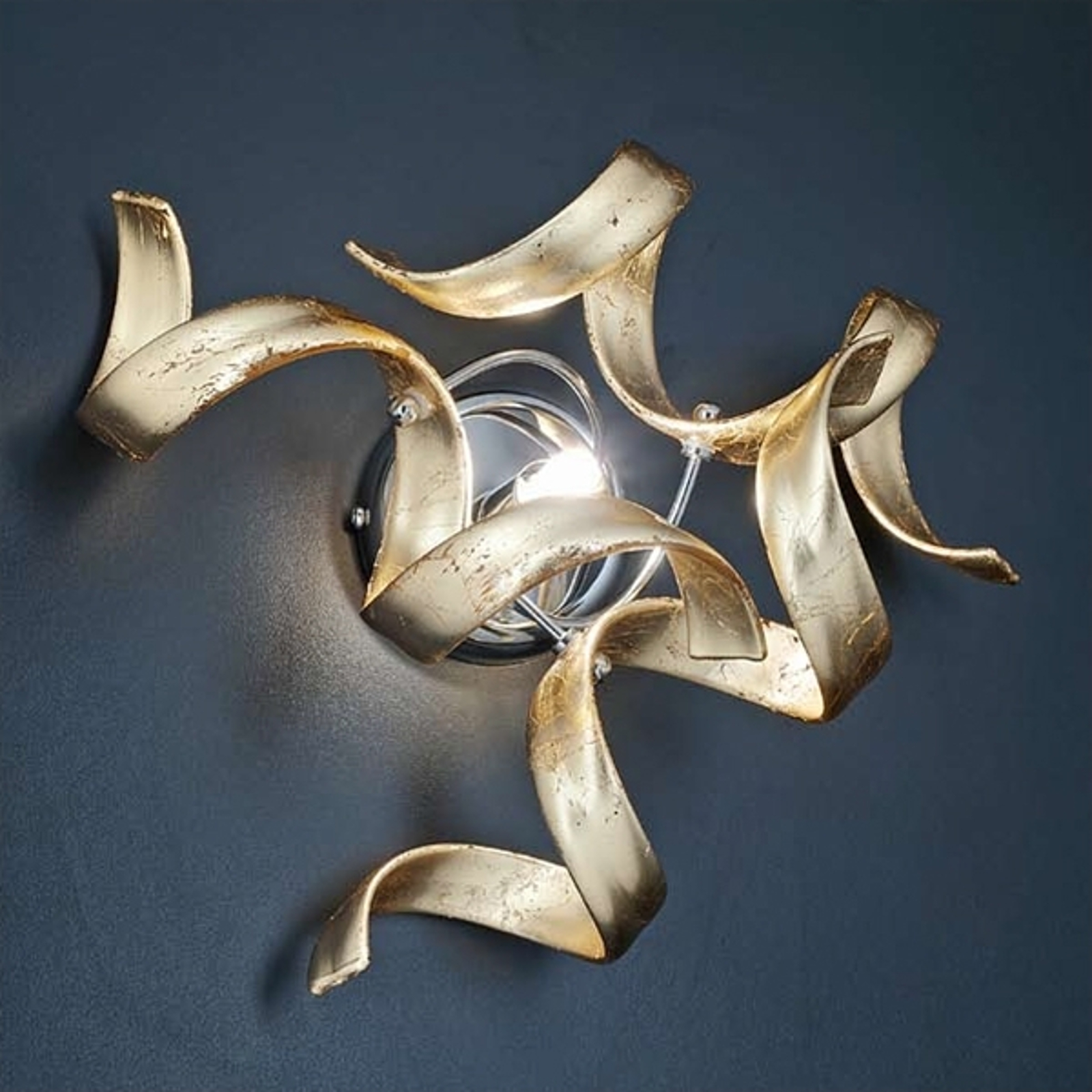Schitterende wandlamp Gold