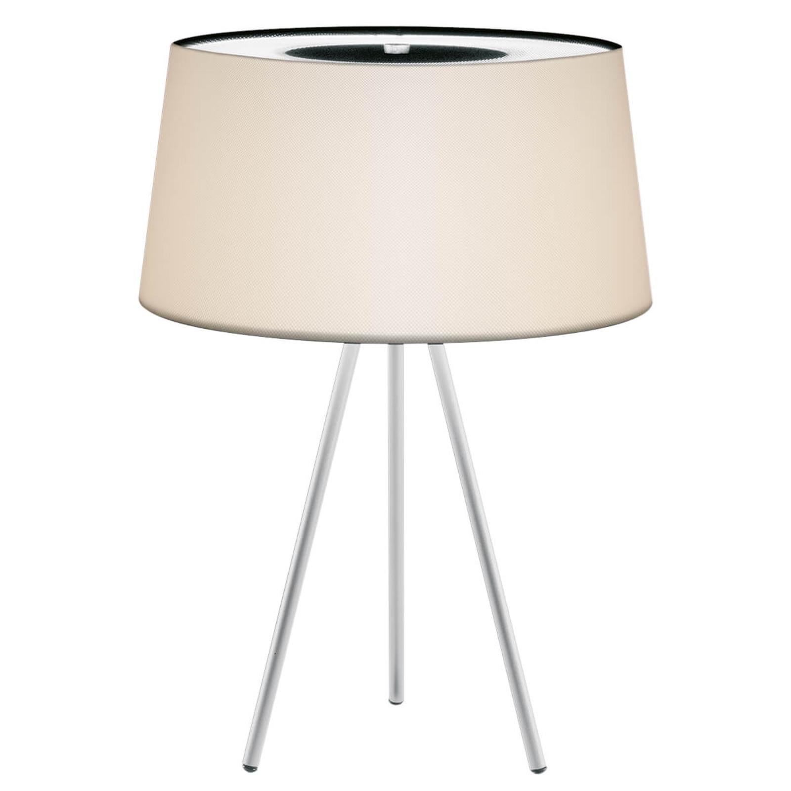 Lampada da tavolo Tripod crema/struttura grigia