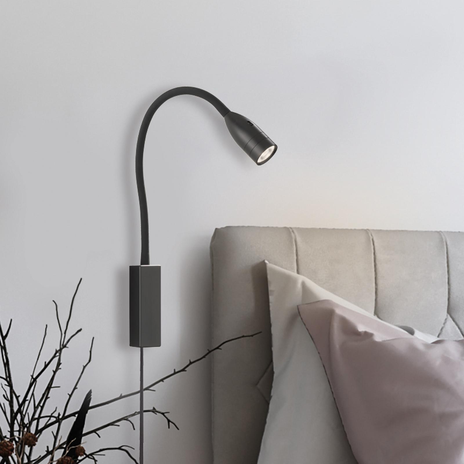 LED-Wandleuchte Sten mit Gestensteuerung, schwarz