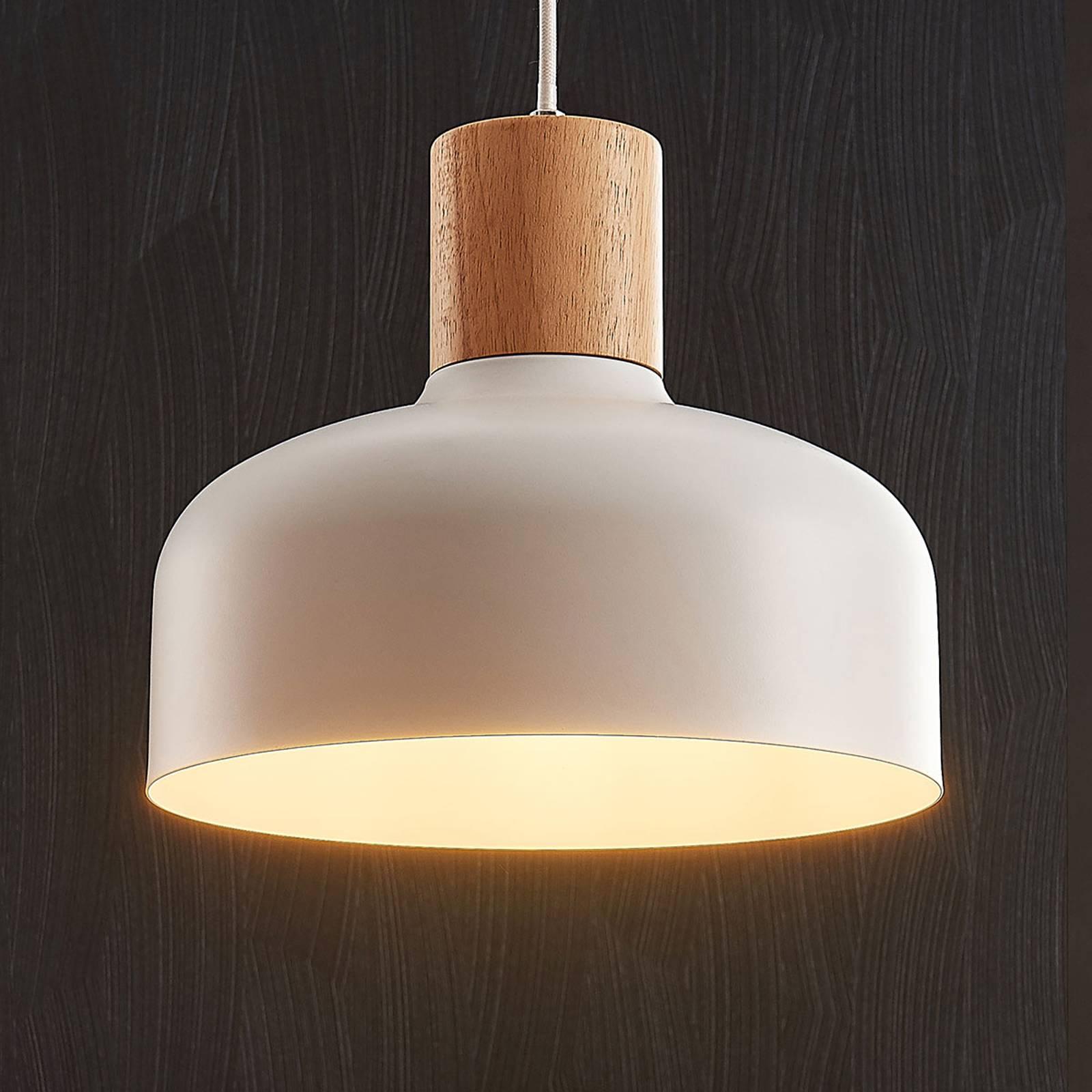 Billede af Hængelampe Carlise med træelement