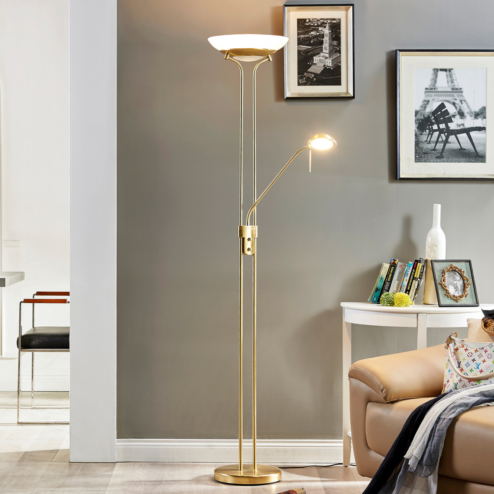 Dimmbar LED-uplight Yveta med leselys
