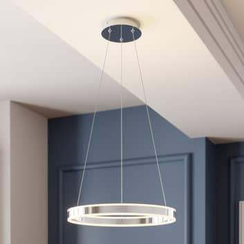 Sospensione LED Lyani cromo, dimmerabile, 50 cm