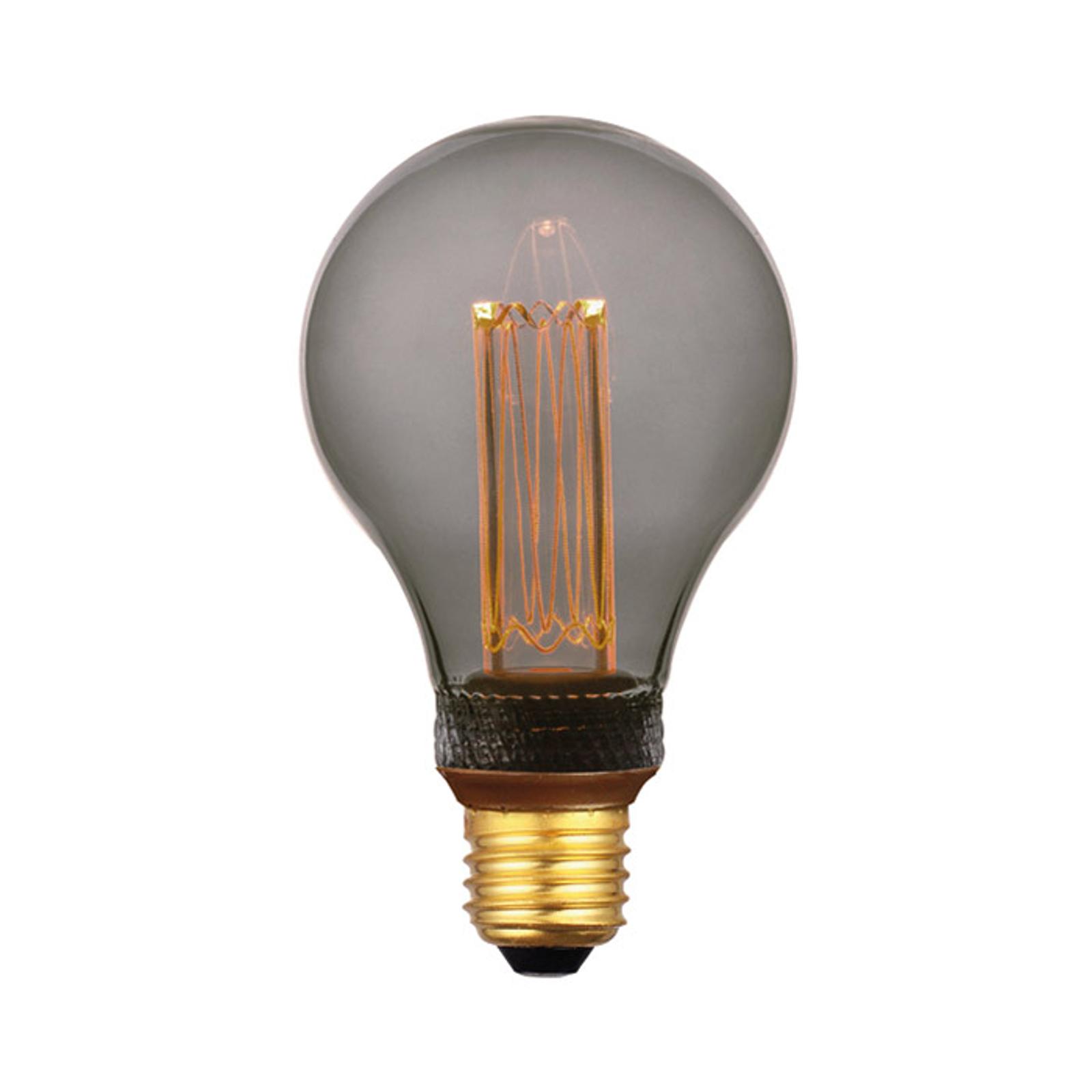 LED-Lampe E27 5W, warmweiß, 3-Step-dim, smoke 14cm