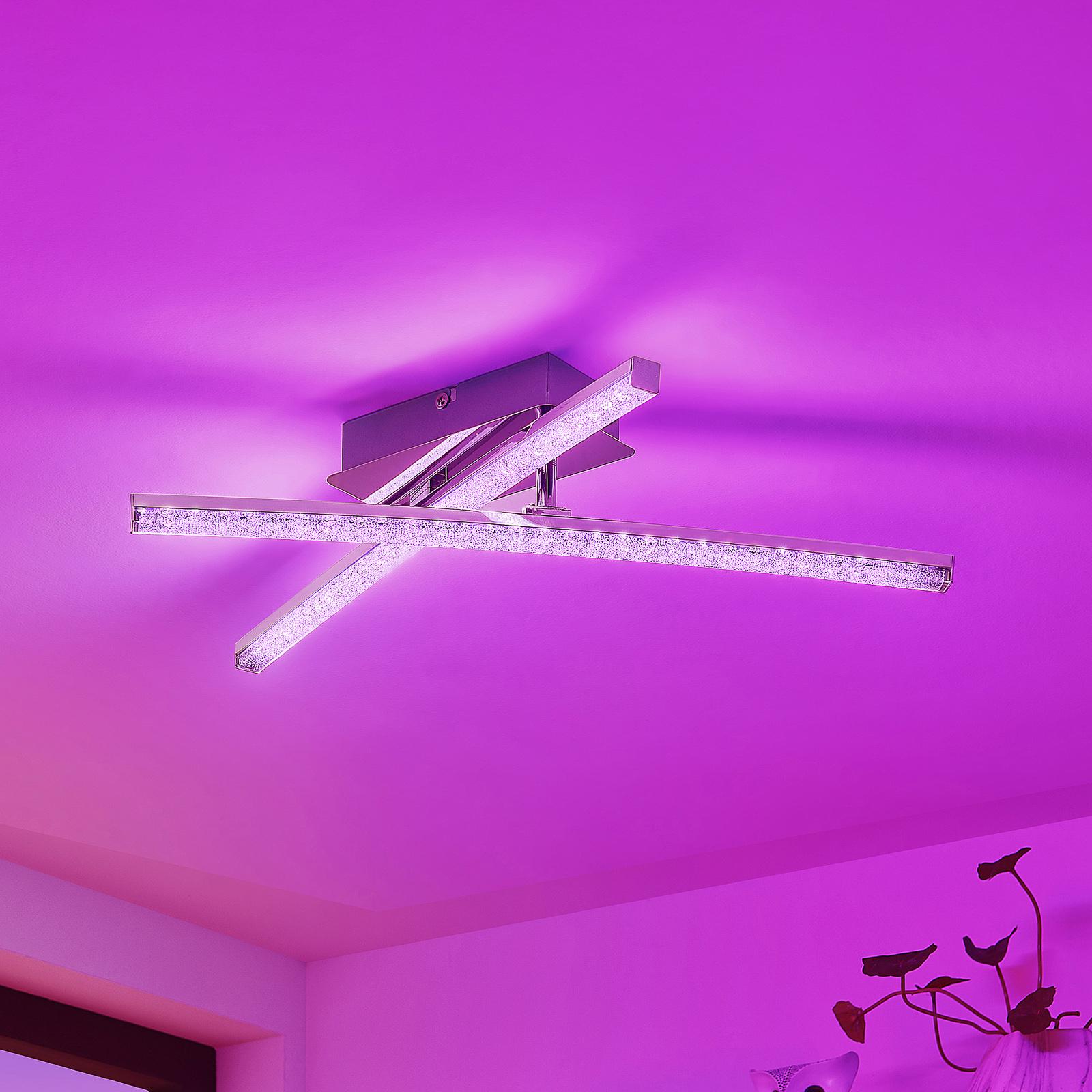 Lindby Urim LED-Deckenleuchte, RGB-Farbwechsel