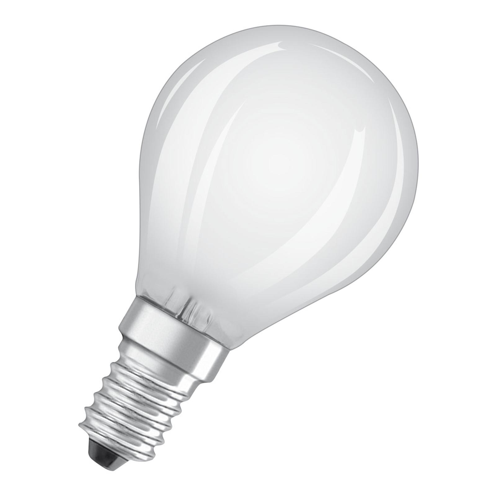 OSRAM LED-dråpepære E14 4 W Classic P 4°000K matt
