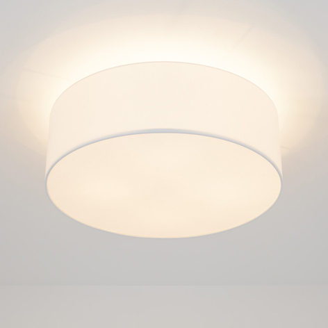 LED-Deckenleuchte Gala, 50cm, Chintzschirm weiß
