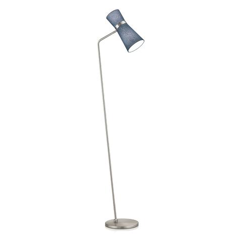Stehlampe Yuna-S mattnickel spruce blue, beweglich