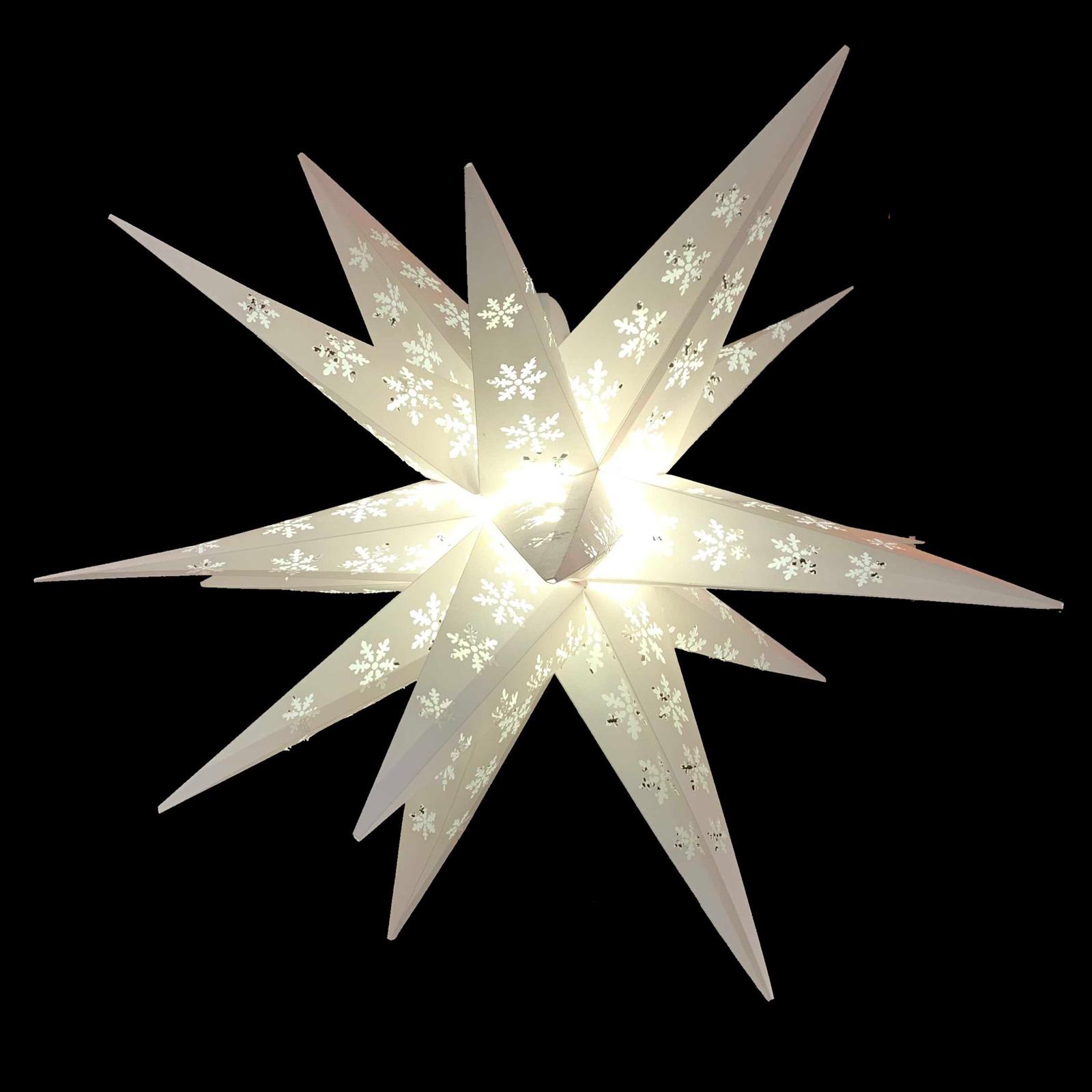 Snøfnugg-stjerne utendørs, 18-spisser, stanset