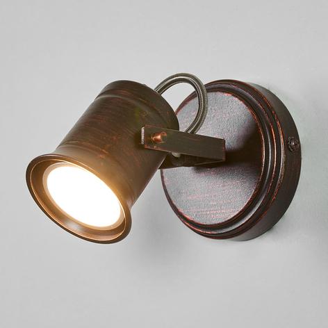 Ruskea-kultainen Cansu-spottivalo, GU10-LED
