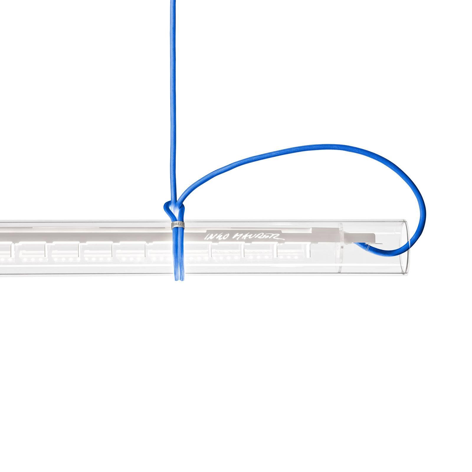 Ingo Maurer Tubular LED hanglamp, wit/blauw