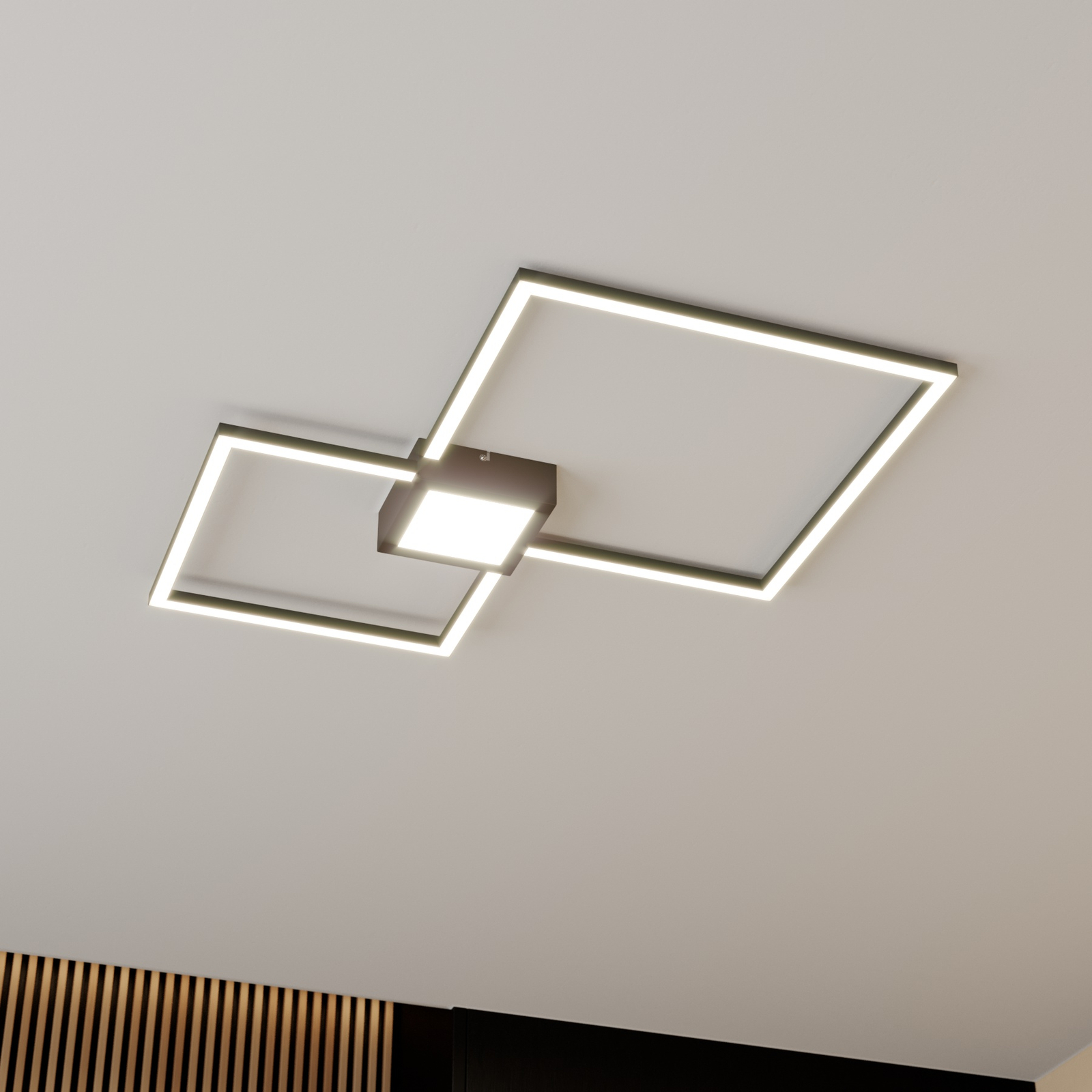 Lindby Duetto LED-taklampe antrasitt 28W
