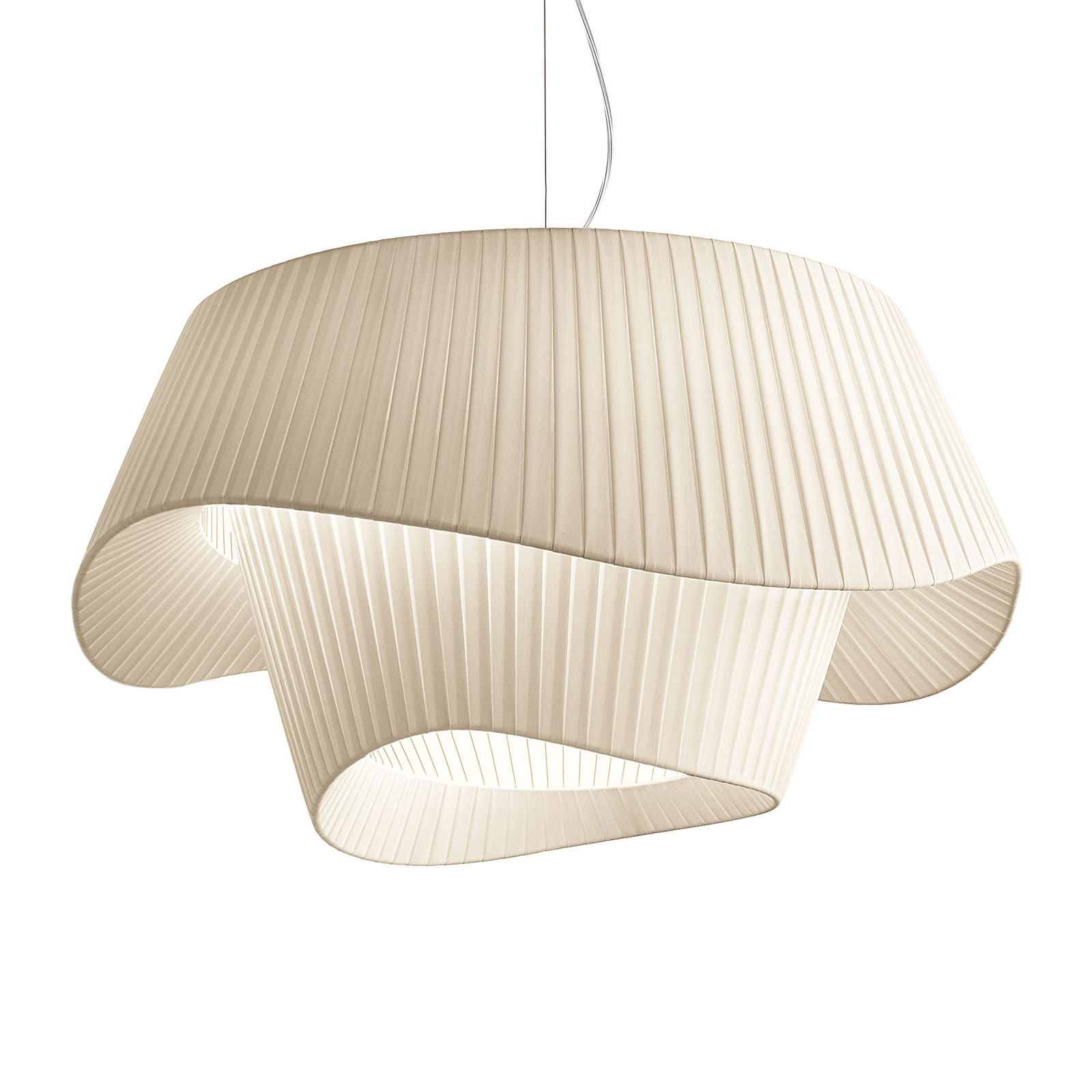 Modo Luce Cocó suspension en tissu Ø 80cm beige