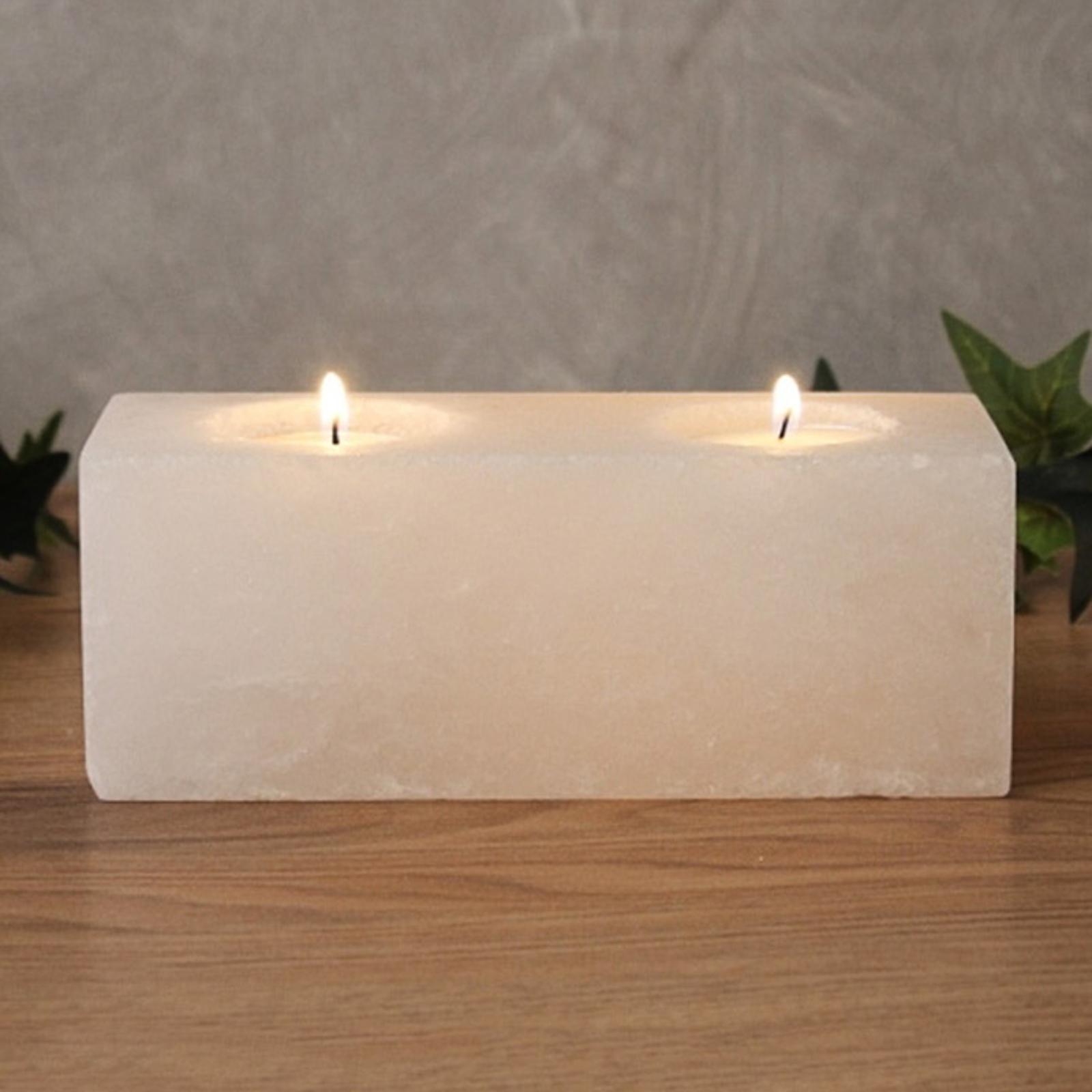 Lampada portacandela Twin Cube White Line