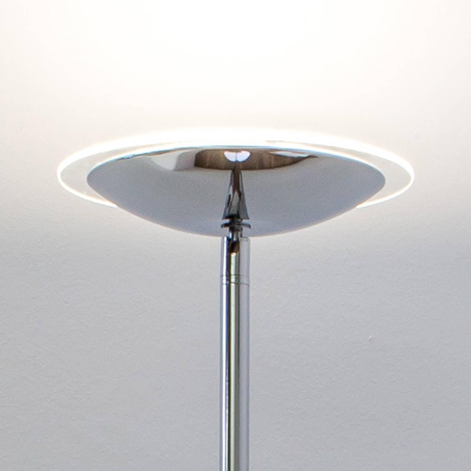 Chroomglanzende LED uplighter Malea