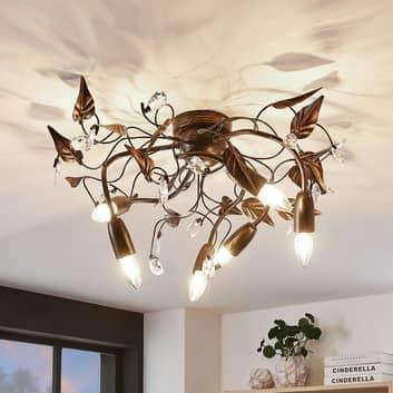 Plafondlamp Marlitt, gebogen armen, 6-lamps