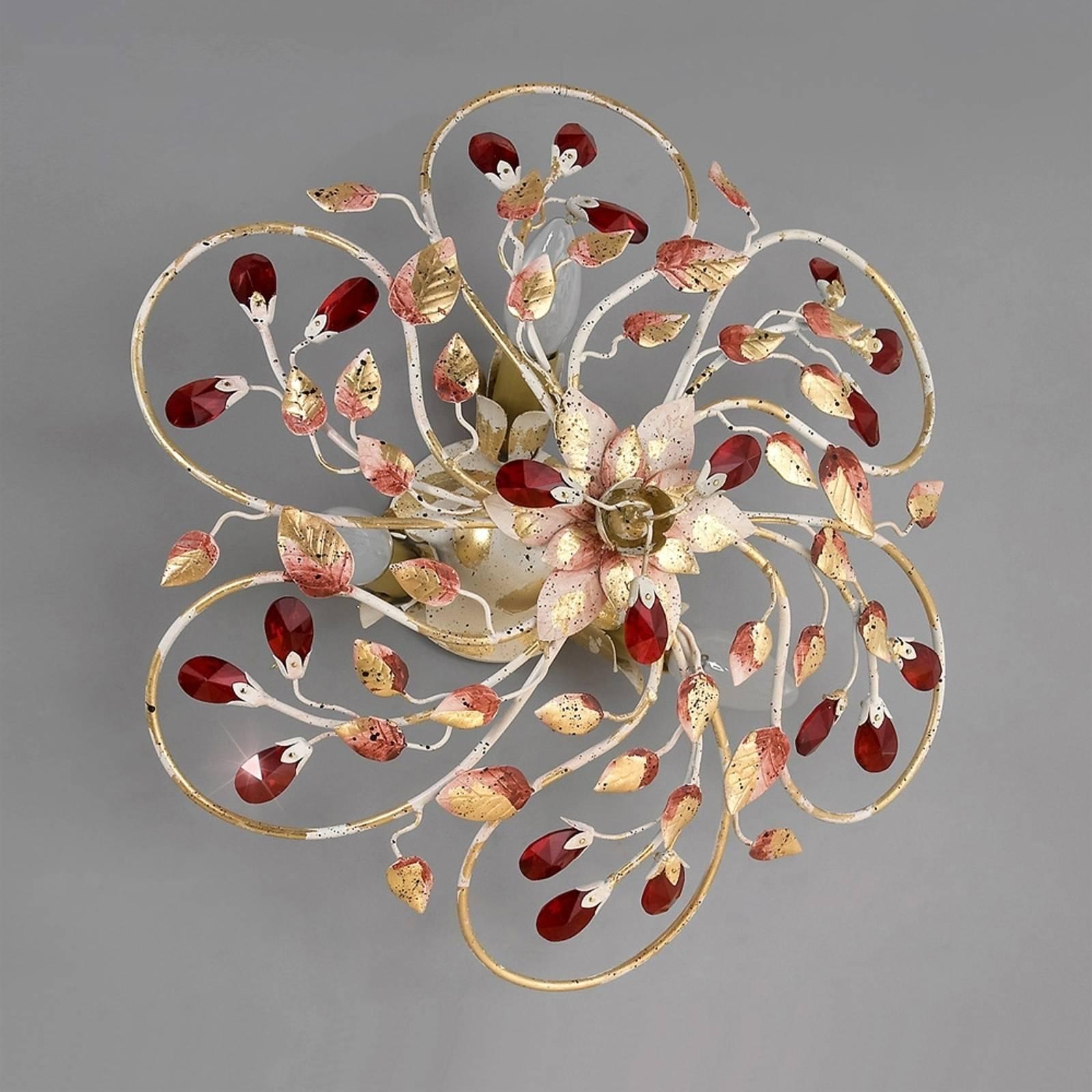 Lampa sufitowa NADJA z purpurowymi kryształami 60