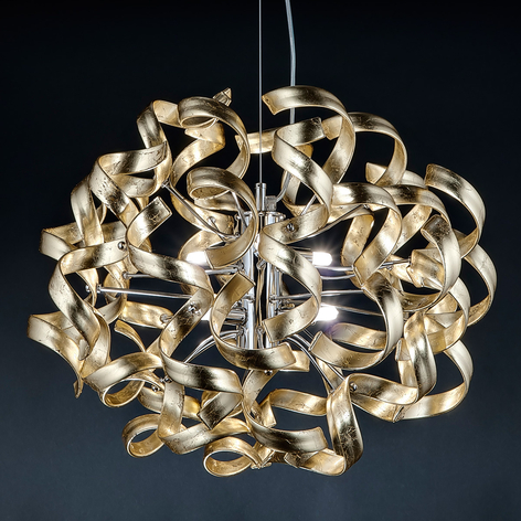 Gold - lampada a sospensione dorata, 50 cm