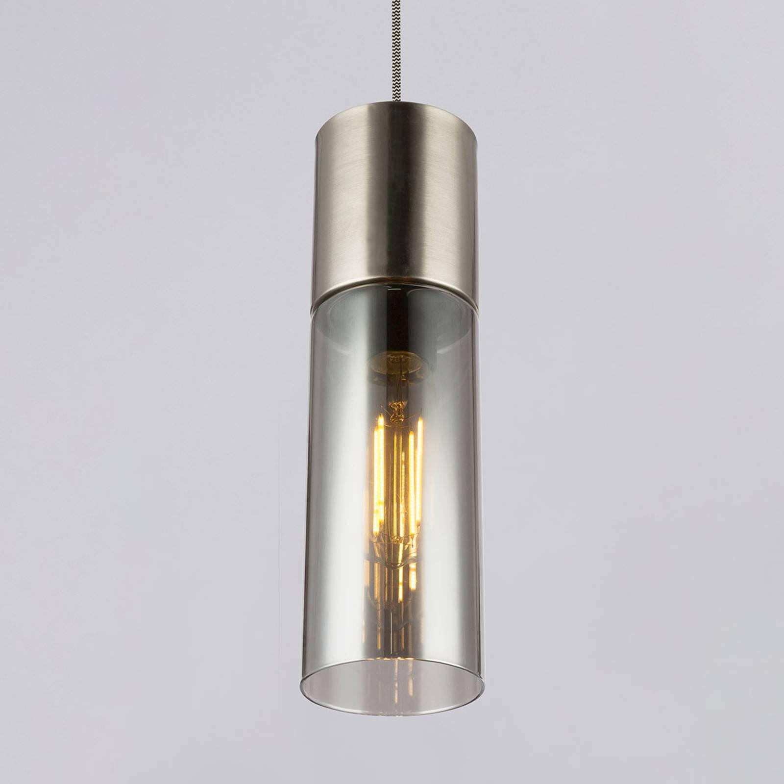 Hanglamp Annika, 1-lamp, nikkel