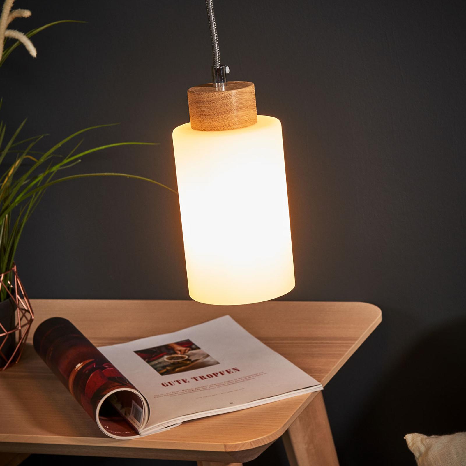 1-pkt. lampa wisząca Bosco, dąb olejowany