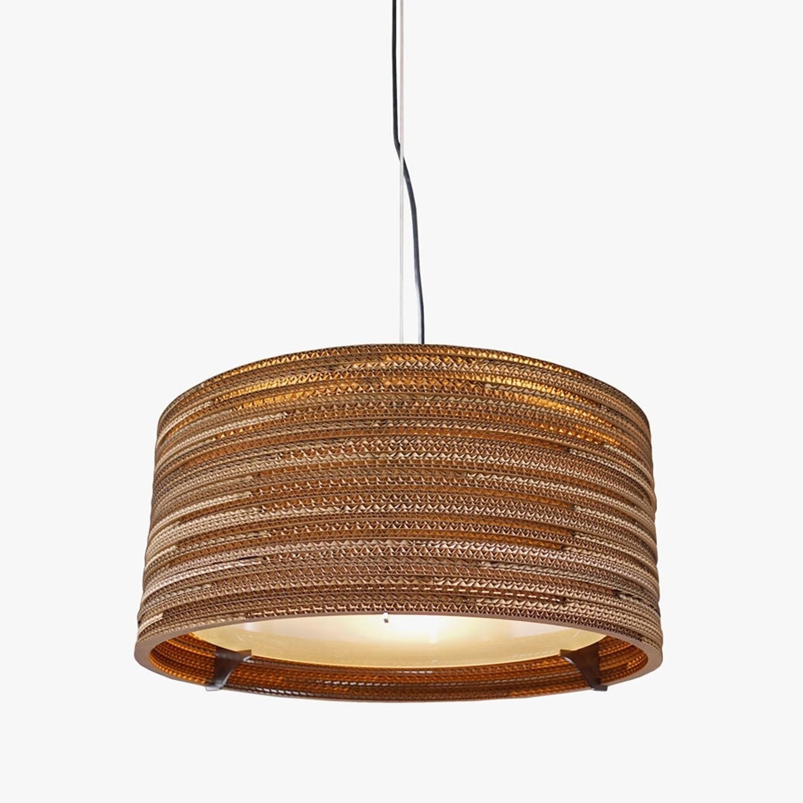 Lampa wisząca Drum z kartonu z recyclingu 45  cm