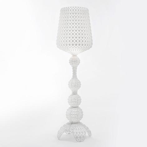 Lampadaire de designer Kabuki avec LED, blanc