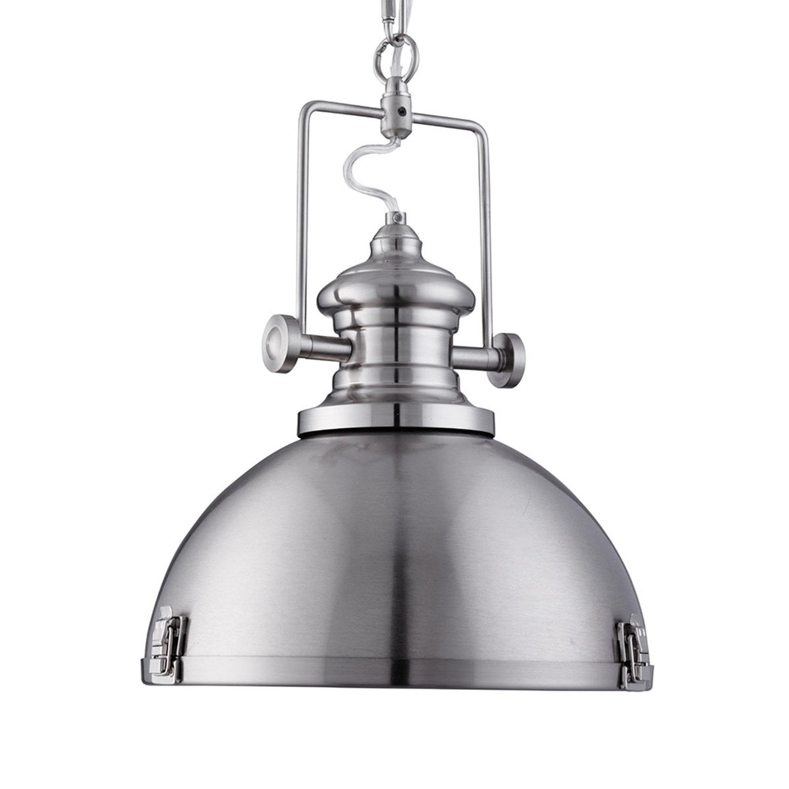 Trendige Industrie-Pendelleuchte Silver