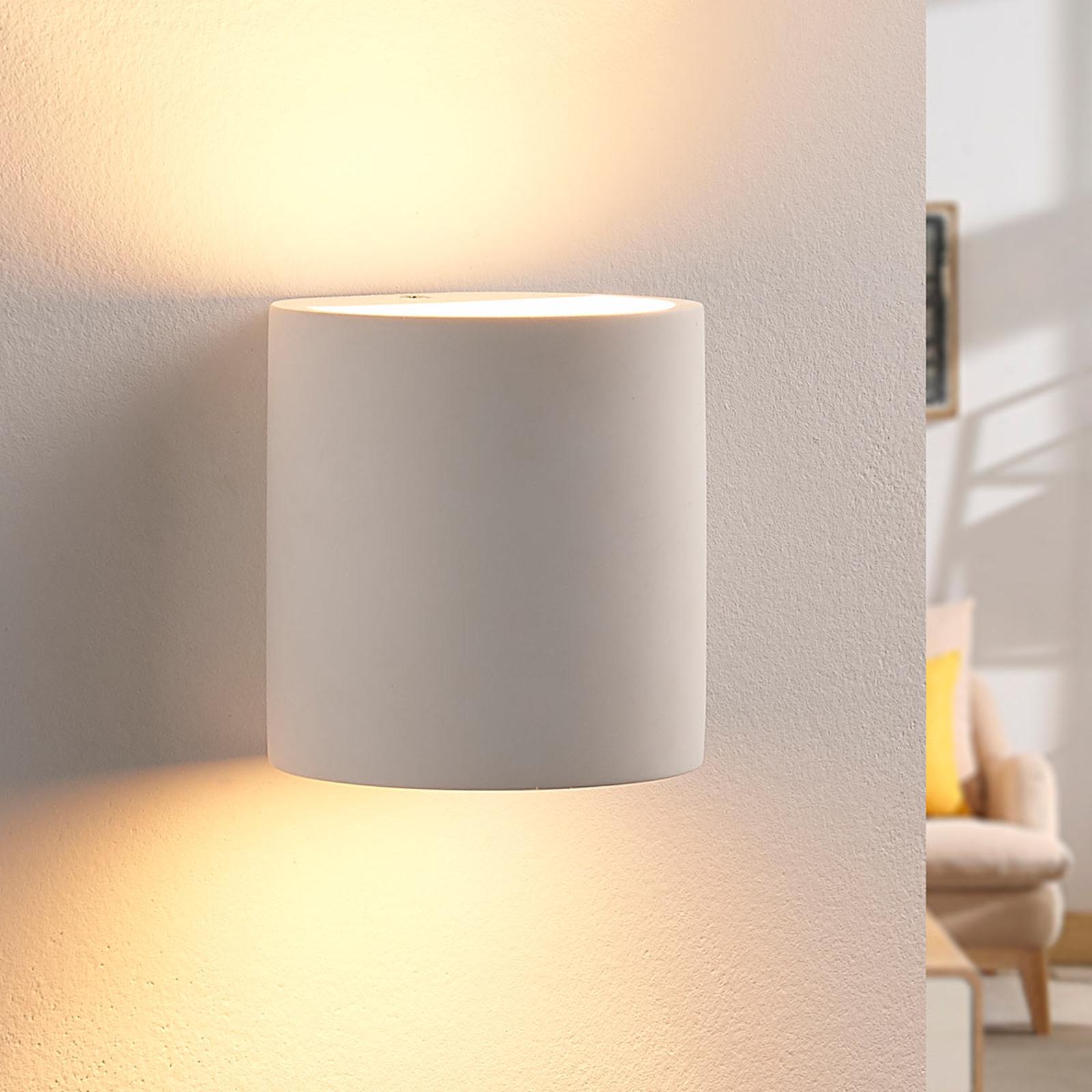 Vegglampe i gips Krista med G9-LED-pære