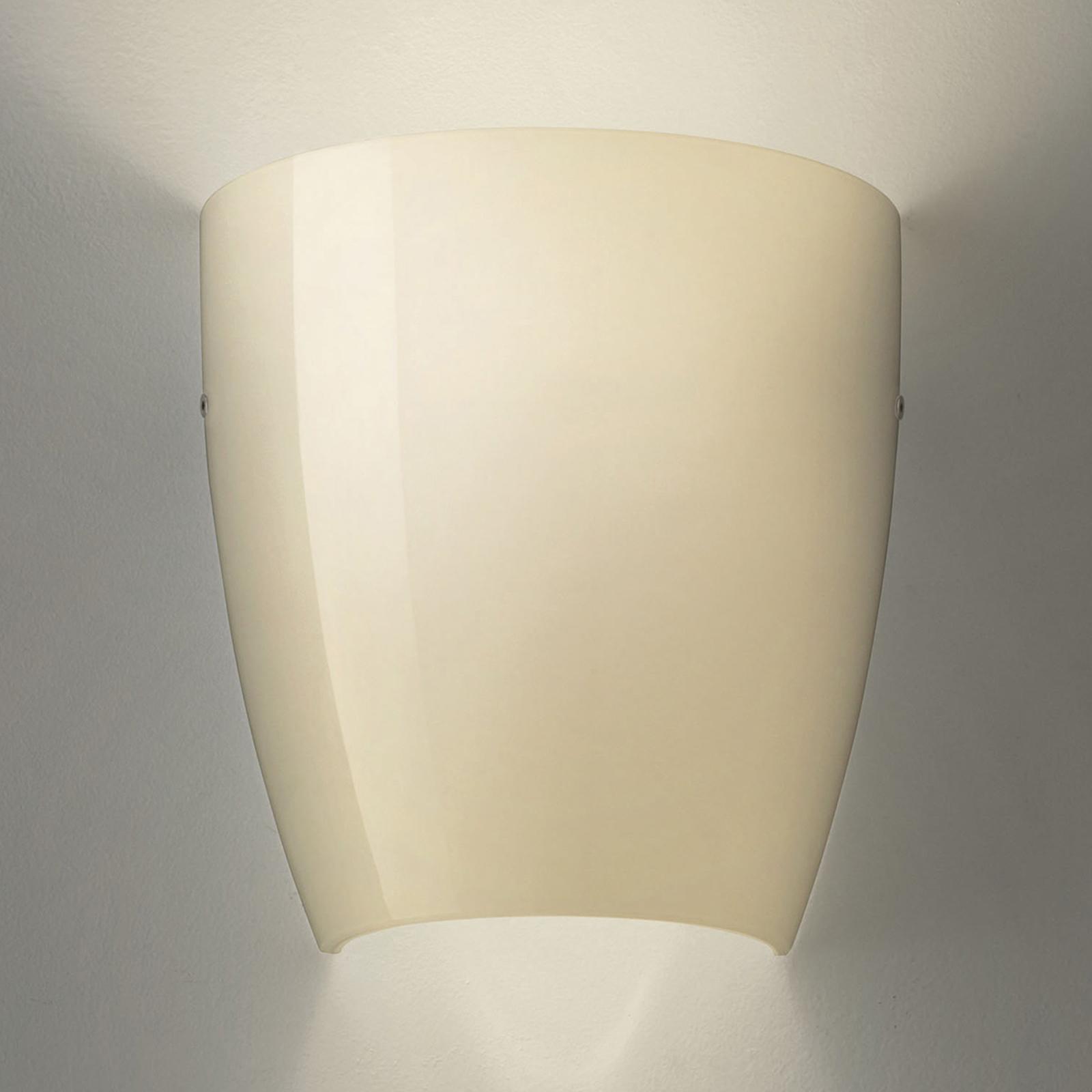 Wandlamp Dafne van glas glossy zand