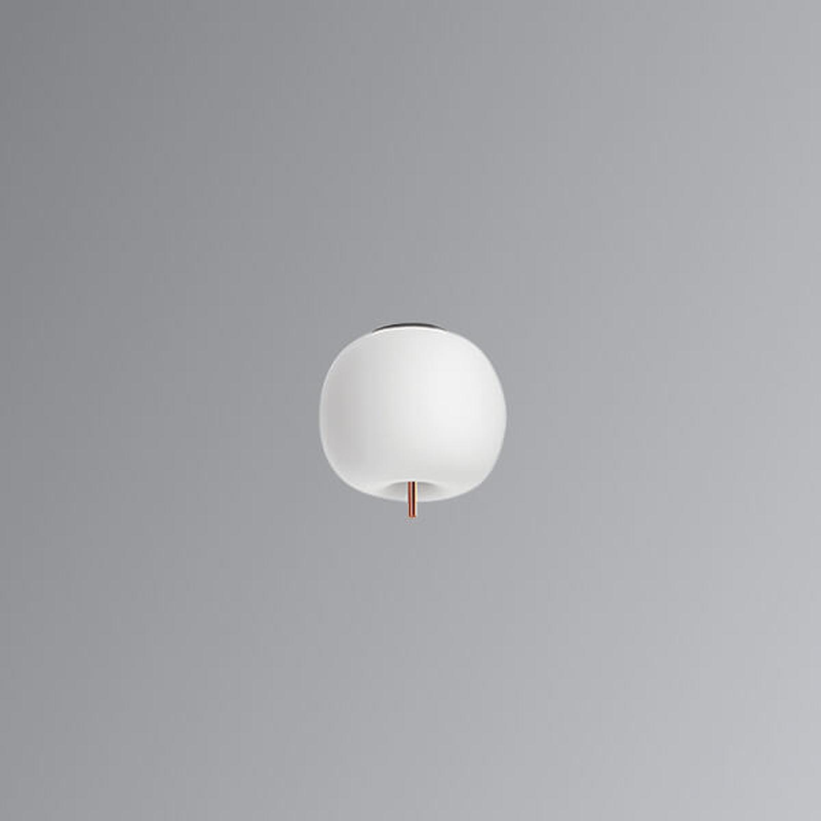 Plafoniera LED Kushi con asta di rame 16