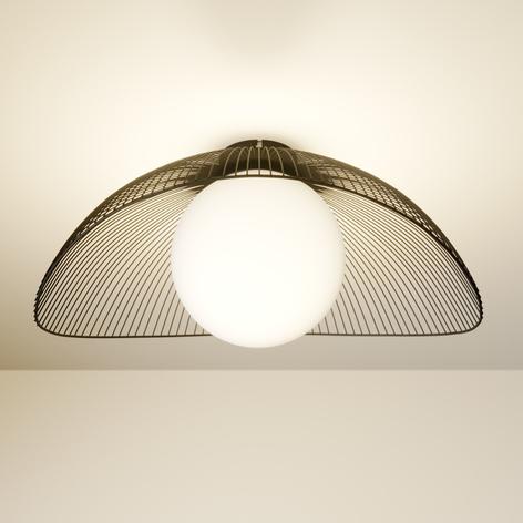 Lindby Fabronia lámpara de techo rejilla, bola