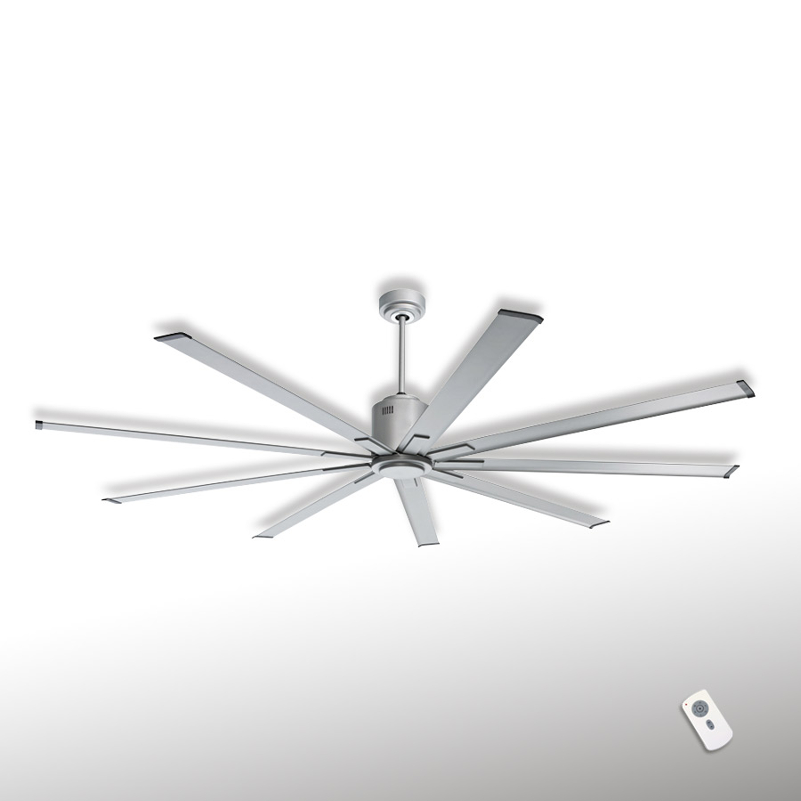 Loftventilator Big Smooth Eco 220 cm titaniumsølv