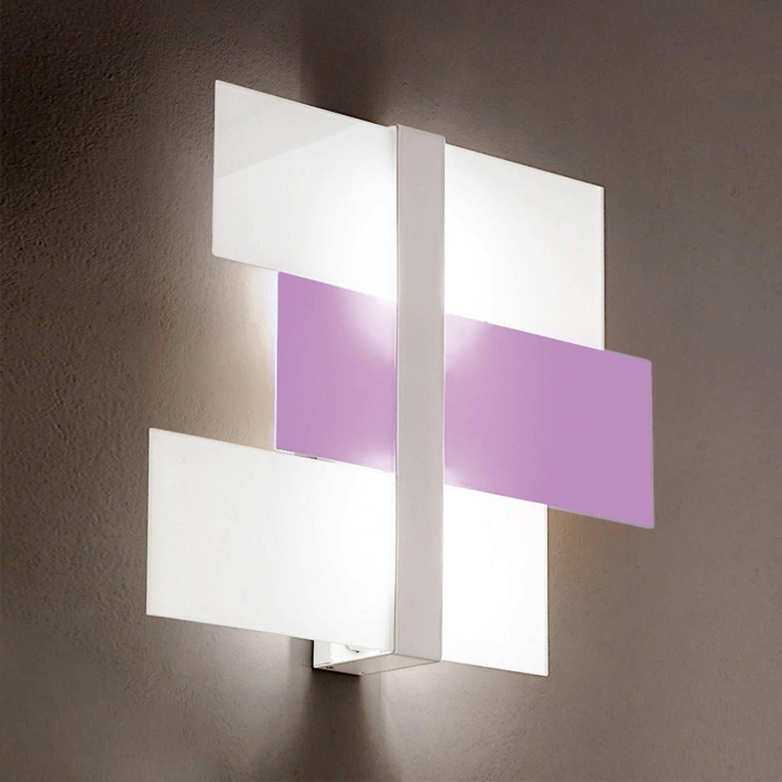 Applique Triad 62cm blanche/violette