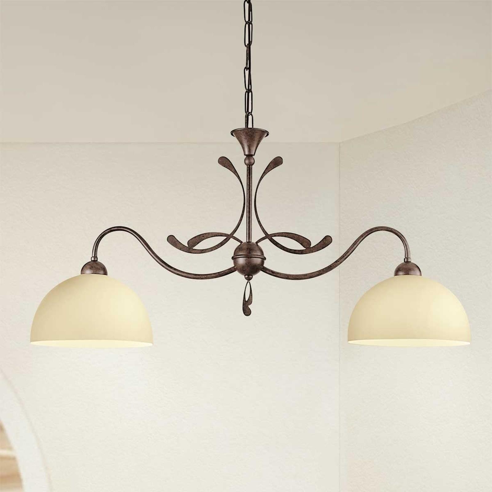 2-lichts landhuis-hanglamp Lorenzo